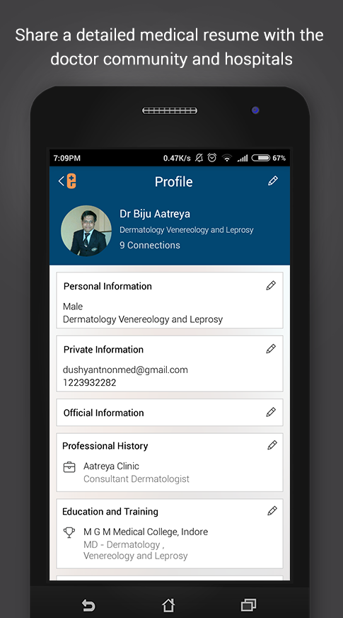 eMediNexus - Doctors Network- screenshot