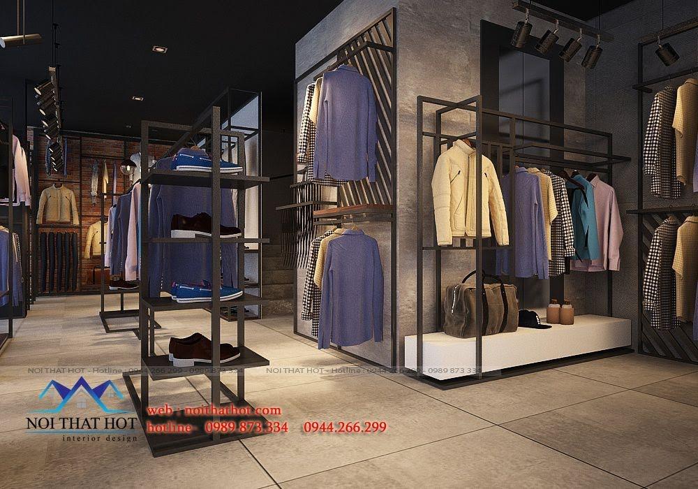 thiết kế shop thời trang nam H2T 4