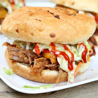 Slow Cooker Sweet and Spicy Pulled Pork Sandwiches.