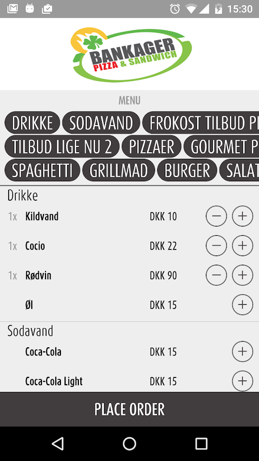 Bankager Pizza Horsens- screenshot