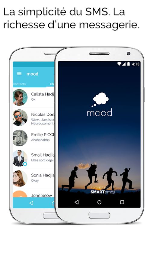 Mood Messenger - SMS & MMS – Applications Android sur Google Play