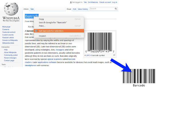 Selection Barcode Generator