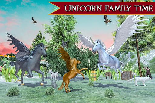 Flying Unicorn Horse Family Jungle Survival 4.0 screenshots 13