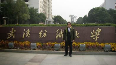 Photo: visit to Wuhan Textile University (De 6, Mon.)
