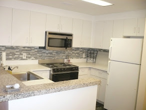 Photo: Fully stocked kitchen with dishwasher, oven, microwave, fridge. All dishes, plates, glasses, coffee maker, blender, etc, etc,  stocked