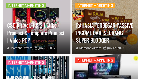 website bisnis terjangkau - náhled