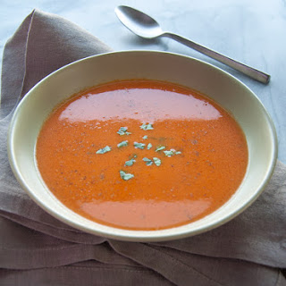 Roasted Tomato and Tarragon Soup.