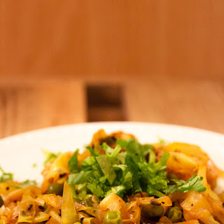 "Indian Spiced Cabbage with Peas (or ""Cabbage Sabzi"")"