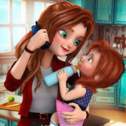 Virtual Family Mother Game: Working Mom Simulator