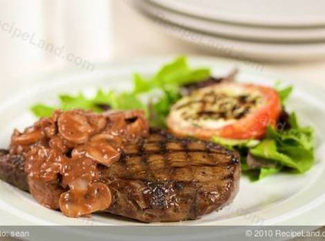 Grilled  Steak & Pinot Noir Mushroom Reduction Recipe