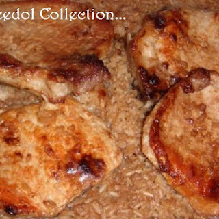 Pork Chop, Onion and Rice Casserole.