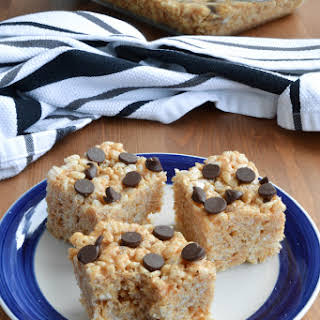 Chocolate Chip Peanut Butter Rice Krispies Squares One 9x13 pan.