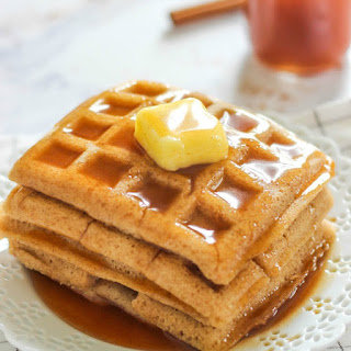 Cinnamon Waffles with Apple Cider Syrup