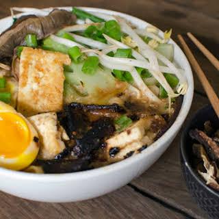 Vegetarian Homemade Ramen Bowls.