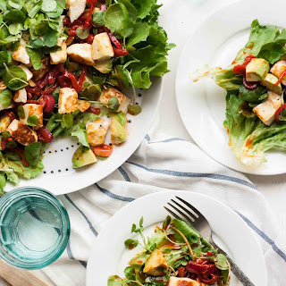 Smoky Halloumi and Avocado Salad