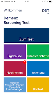 DST - Demenz Screening Test, Alzheimer Test Screenshot