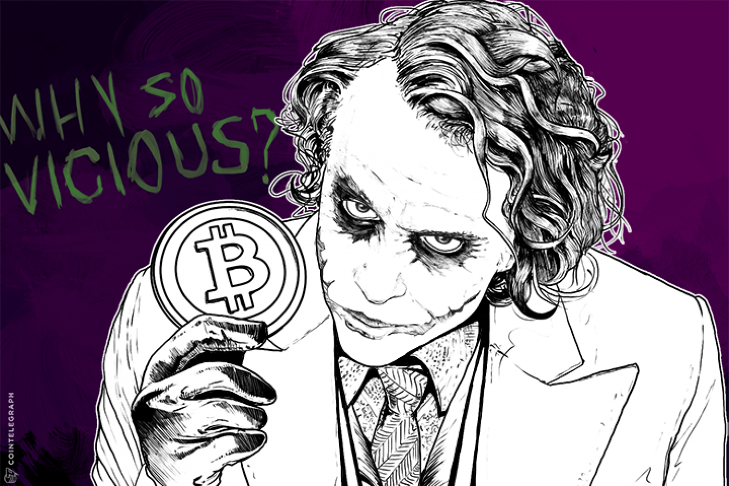 Joker with Bitcoin