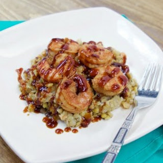 Shrimp Over Lentils with a Spicy Molasses BBQ Sauce Recipe