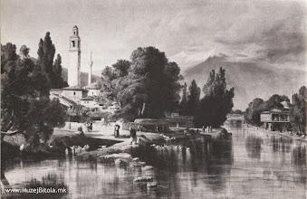 Photo: 1а Edward Lear, Битола 1848 година во слика маслена техника изработена од претходен цртеж од истата локација.