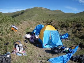Photo: 反射板下的第一天營地...