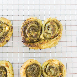 Pesto and Goat Cheese Savoury Palmier.