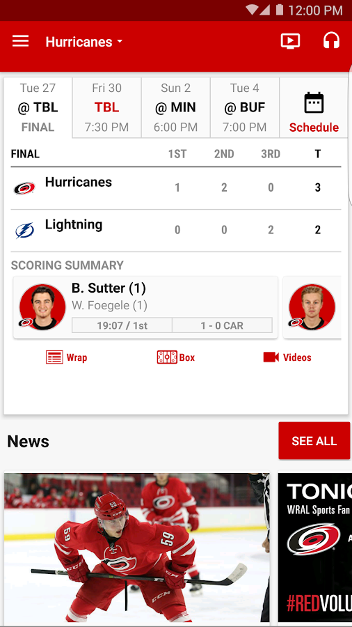 Carolina Hurricanes- screenshot
