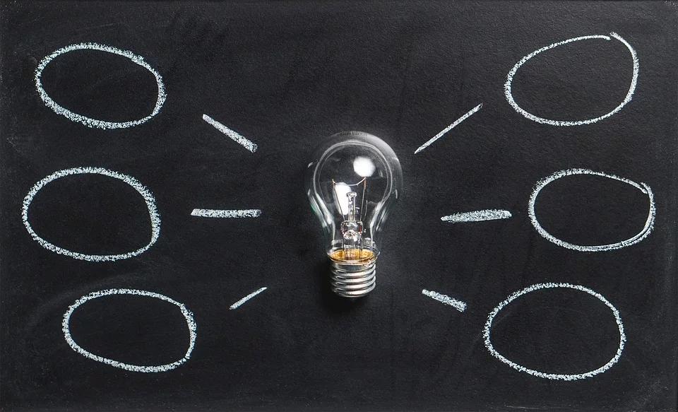 business name brainstorming lightbulb