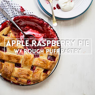 Apple Raspberry Pie with Rough Puff Pastry.