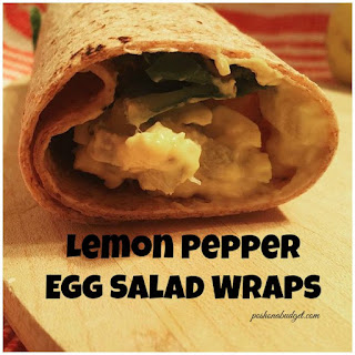 Lemon Pepper Egg Salad Wraps