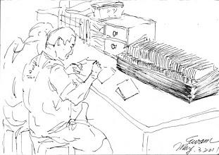 Photo: 蓋不完的章2011.05.3鋼筆 每個收容人都有一本身份簿和類似存摺現金保管簿,一個工場百來人,一個監獄三千人,全部都得手寫、用印,可以想像一個人當然搞不定,看雜役在一旁不停蓋著章,我常想,監獄什麼時候才會現代化啊!