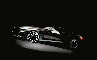 Audi has shown this teaser of its new flagship A9 E-tron GT which will be a battery-electric model