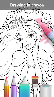 Princess coloring book 6