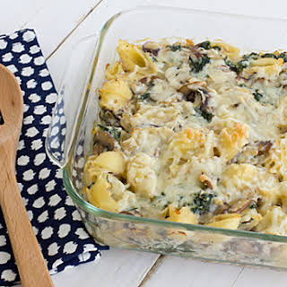 Baby Bella and Kale Casserole.