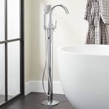 Carraway freestanding tub faucet with hand shower