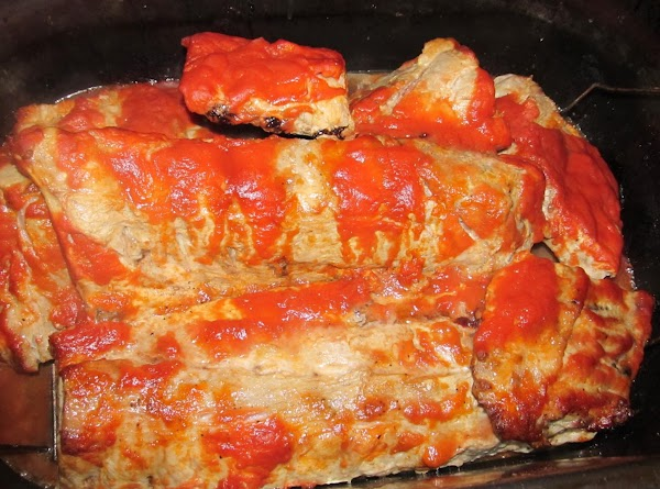 Wash my pork ribs and clean the thick white skin off Place the ribs into...