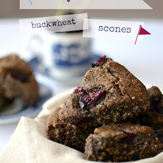 Cherry Chocolate Buckwheat Scones