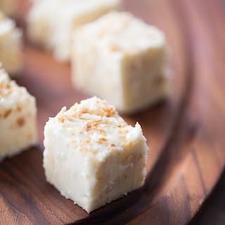 Toasted Coconut White Chocolate Fudge