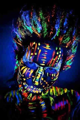 夜光人体彩绘