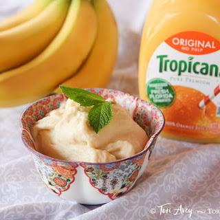 2-Ingredient Creamy Vegan Orange Sorbet.