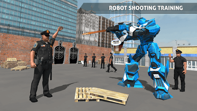 Police Robot Car Game – Police Plane Transport APK screenshot thumbnail 4