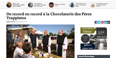 De record en record à la Chocolaterie des Pères Trappistes Nouvelles Hebdo