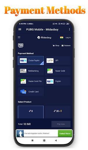 MidasBuy - Topup BC & UC   Free redeem code& gifts 1.7 screenshots 4