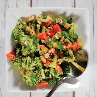 Thai Broccoli Salad with Cilantro and Chopped Peanuts