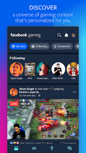 Facebook Gaming: Watch, Play, and Connect 82.0.0.61.44 screenshots 1