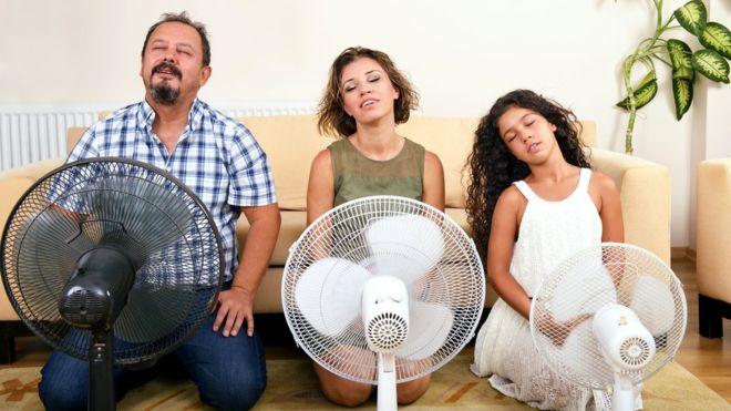 Вентилятор не охладит вас, если температура воздуха высокая