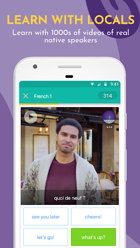 Learn Languages, Grammar & Vocabulary with Memrise Android App Screenshot