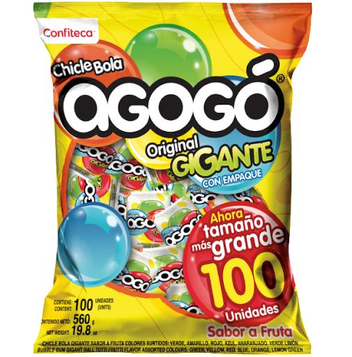 Chicle Agogo Bola Gigante 100 Und