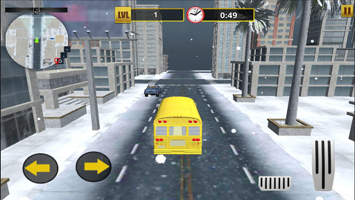 Snow School Bus Pro Game Christmas City bus Driver 1.6 screenshots 1