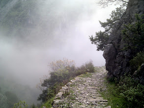 Photo: descending into the clouds