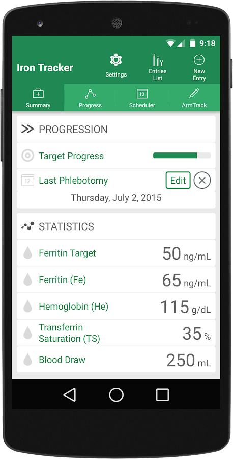 Iron Tracker - Hemochromatosis- screenshot